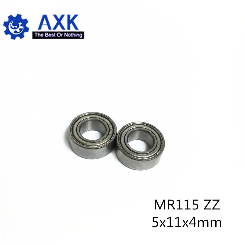 10PCS 5 x 11 x 4mm MR115ZZ Metal Bearings Bearing Metal Rubber Seal Shielded Set