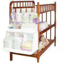 Детская кроватка детская кровать подвесной мешок портативный водонепроницаемый подгузники Органайзер прикроватный бампер сумка постельные принадлежности