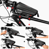 WILD MAN New Bike Bag Frame Front Top Tube Cycling Bag Waterproof 6.6in Phone Case Touchscreen Bag MTB Pack Bicycle Accessories 6