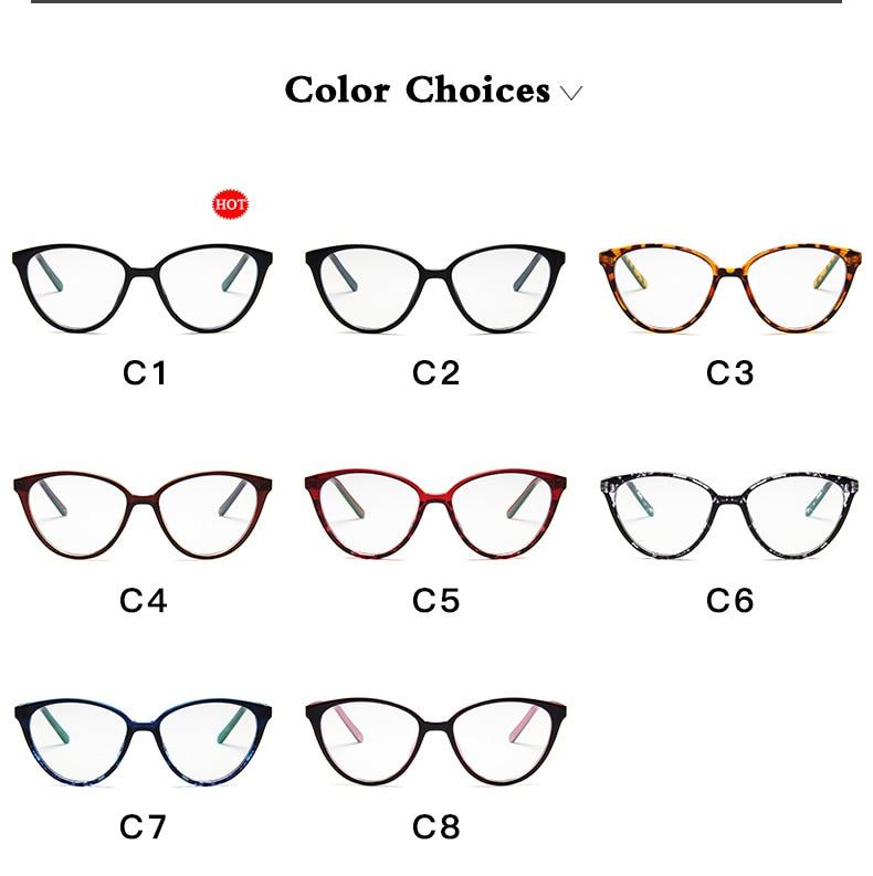 New Retro Cat Eye Women Glasses Frame Anti Blue Light Lady Eyeglasses Frame myopia Vintage Clear Glasses Optical Spectacle Frame (5)