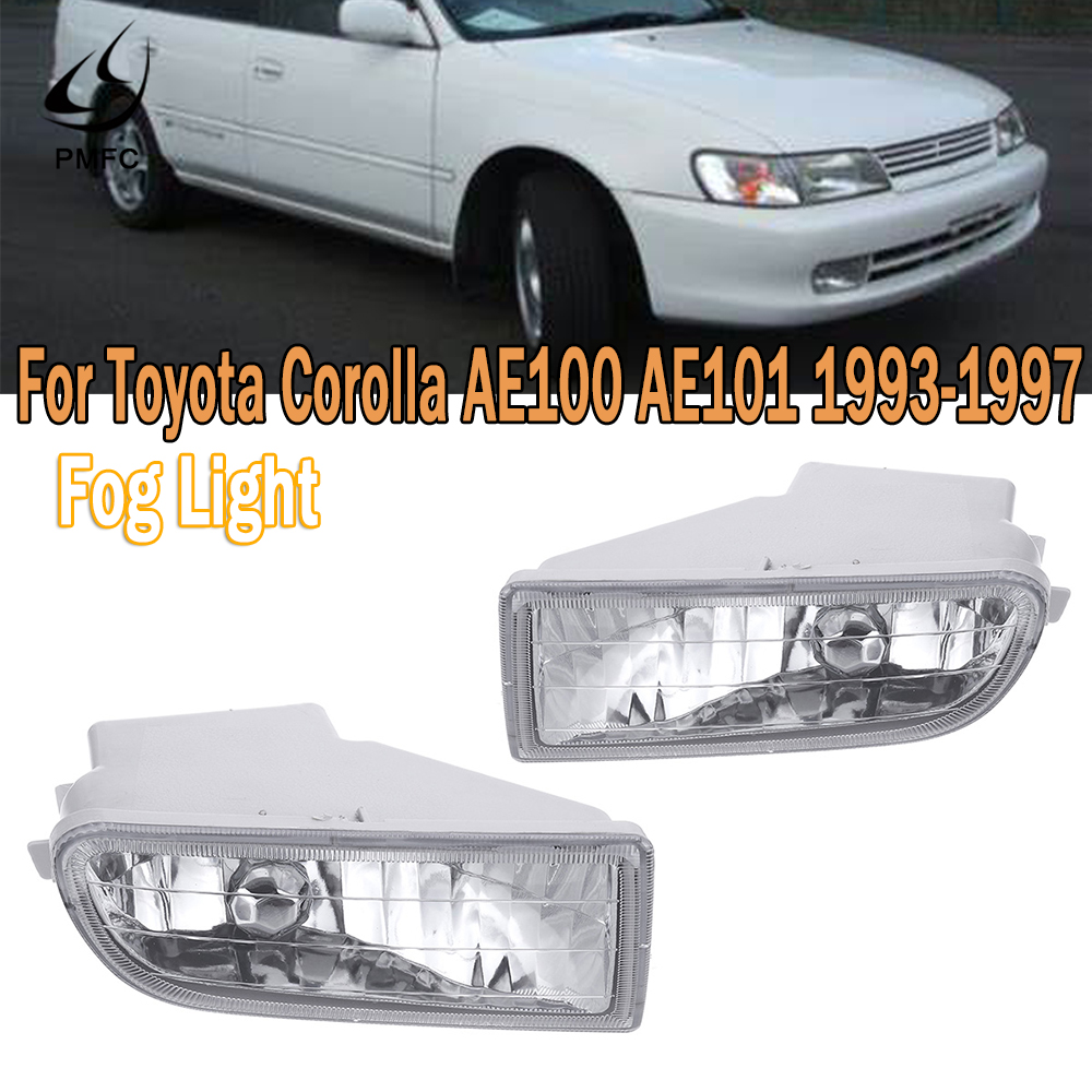 PMFC Fog Light Front Bumper Fog Lamp Fog Lamp Assembly Car Stying For <font><b>Toyota</b></font> <font><b>Corolla</b></font> AE100 <font><b>AE101</b></font> 1993 1994 1995-1997 A1649060451 image