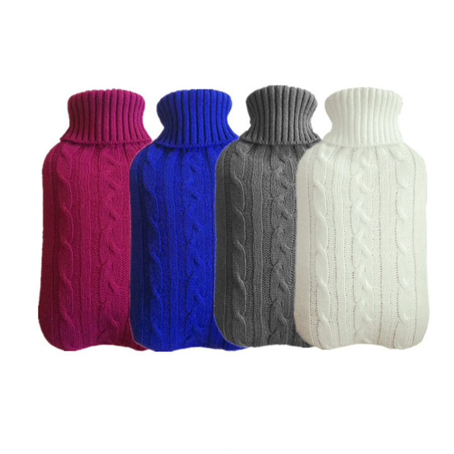 22designs 2000ml Knitted Hot Water Container Cover Cold-proof Washable Removable Protective Heat Preservation Hot Water Bag Case