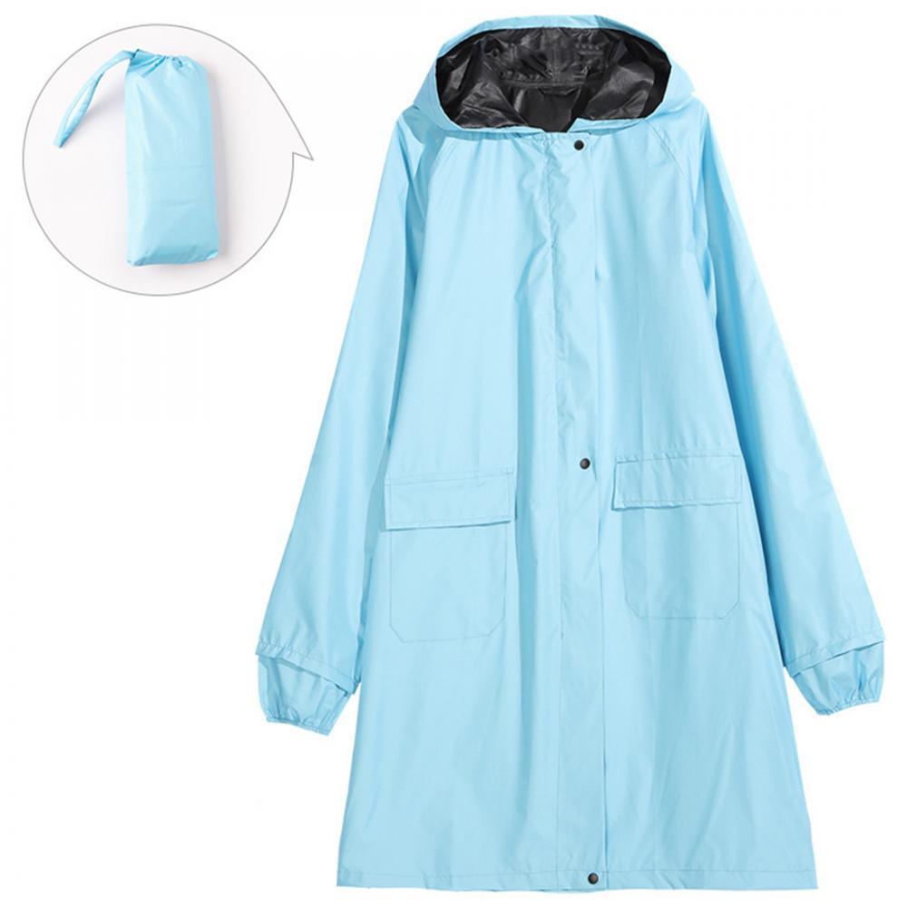 New Fashion Oxford Raincoat With Belt Adult Men Women Rainwear Rainsuit Hiking Tour Raincoat Hooded Adult Poncho Capa De Chuva in Raincoats from Home Garden