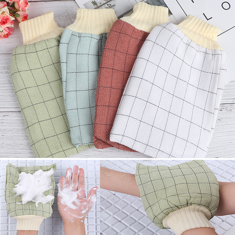 Exfoliating Body Towel Massage Shower Scrubber Exfoliating Sponge Wash Bath Gloves Korea Tape Back Brush Scrub Gloves