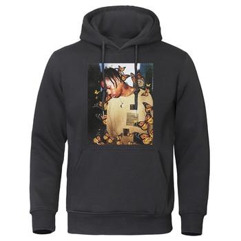 2019 Autumn Winter Men's Hoodies Travis Scott Butterfly Fashion Tracksuit Effect Rap Music Sweatshirts Man Pullover Hip Hop Tops 4
