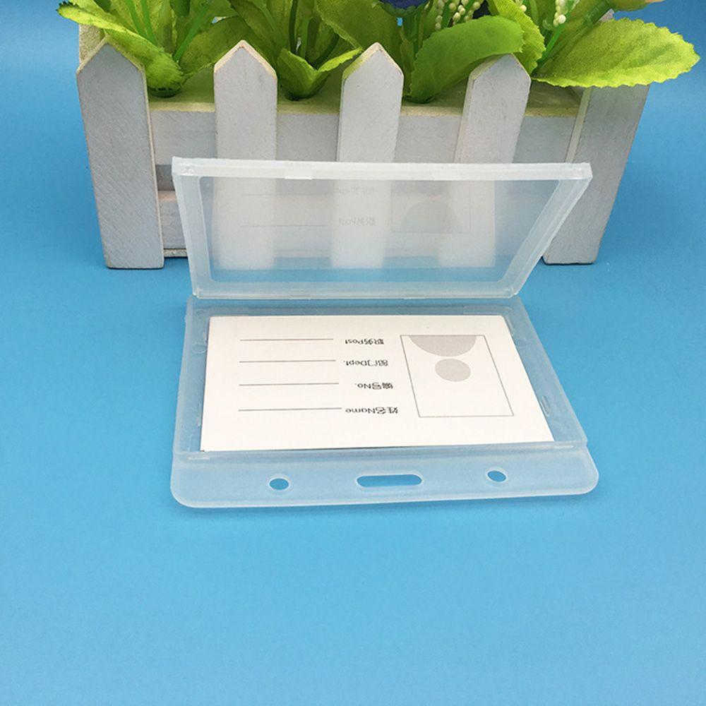 Durable Plastic Vertical ID Card Badge Holder Employee Name Tag Case Waterproof