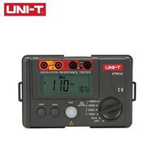 лучшая цена UNI-T UT501A Insulation Resistance Tester 100V--1000V Megger Earth Insulation Resistance Megohmmeter Voltmeter w/LCD Backlight