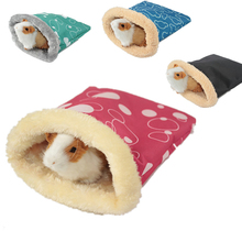 Warm Plush Hamster Bed House Soft Guinea Pig Bed Rat Nest Small Animals Mouse Sleeping Bag Cavie House Accessory Hamster Cage 19 hamster hanging house hammock pineapple design small animals cotton cage sleeping nest pet bed rat hamster toys cag