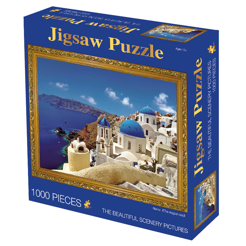 MaxRenard Jigsaw Puzzles 1000 Pieces 50*70cm The Kiss Wooden Assembling Painting World Masterpiece Puzzles Toys for Adults Games 26