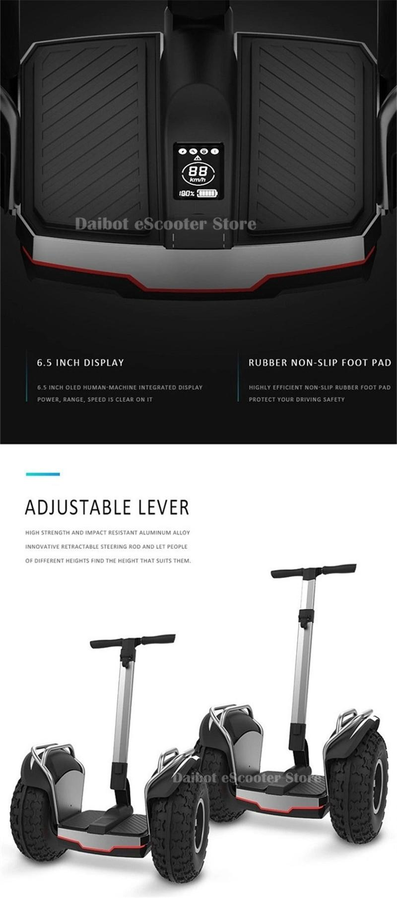 Daibot Off Road Electric Scooter Adults Two Wheels Self Balancing Scooters 2400W 60V Hoverboard Skateboard With APPBluetooth (8)
