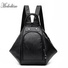 Mododiino Multifunction Women Backpack Shoulder Bag Fashionable Backpacks Crossbody Leather Travel DNV1169
