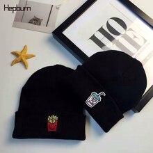 Hepburn Brand Warm Winter Hats for Women Men Beanies Warmer Bonnet Ladies Casual Cap Embroidery Hip-hop Bonnet child Knit Cap цена в Москве и Питере