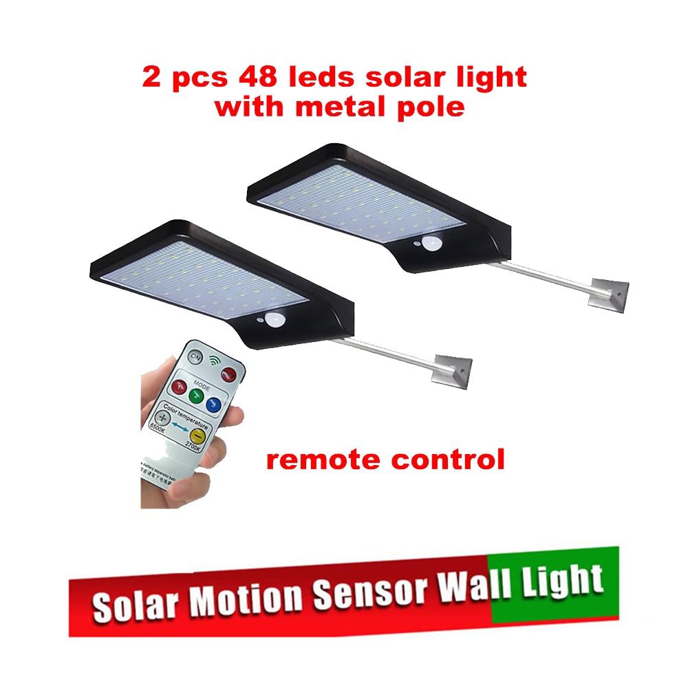 2/4pcs LED Solar Light outdoor lighting of garden security lamp spotlights waterproof Street wall Light solar panels with Motion|Solar Lamps| |  - title=