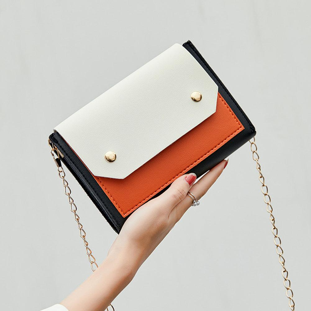 Bags For Women 2019 Lady Fashion Color Matching Casual Single Shoulder Chain Satchel Purses And Handbags