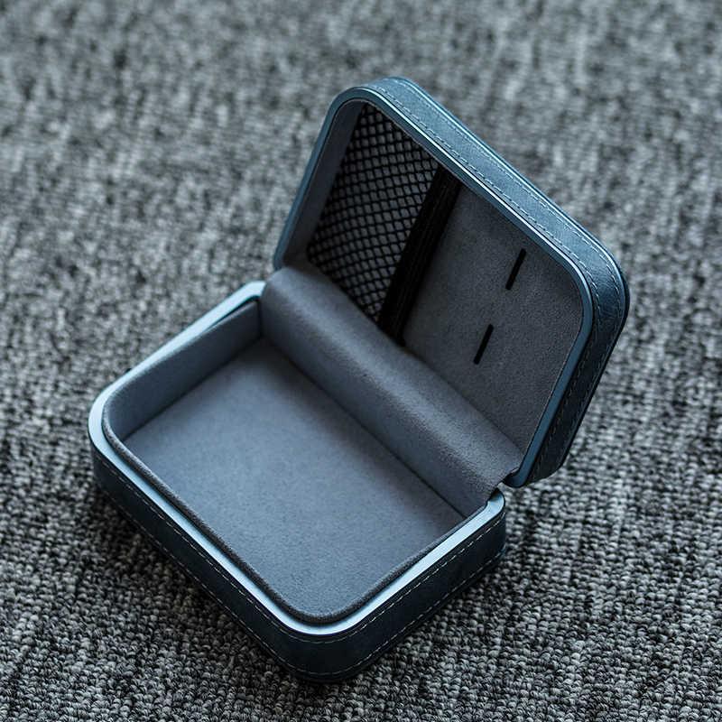 Hibyプレミアムレザーケース外部保護収納ボックスイヤホンusbケーブル充電器の電源マイクロsdカードアクセサリー