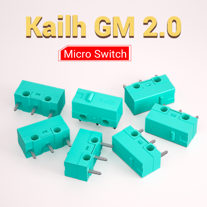 8pcs Kailh GM2.0 Micro Switch 20M Life Gaming Mouse Micro Switch 3 Pin Blue Used On Computer Mice Left Right Button