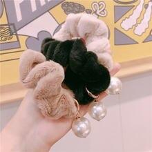 Корейский стиль жемчужное кольцо для волос из толстой кишки