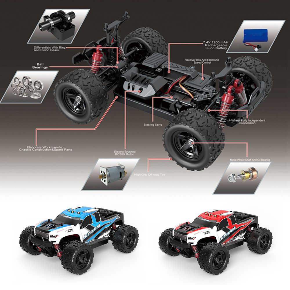 Rcカー 1:18 ラジオ制御工作機械 2.4 グラム 4WD高速高速 36 キロ/hラジオ制御クライミングオフのロードレースのため