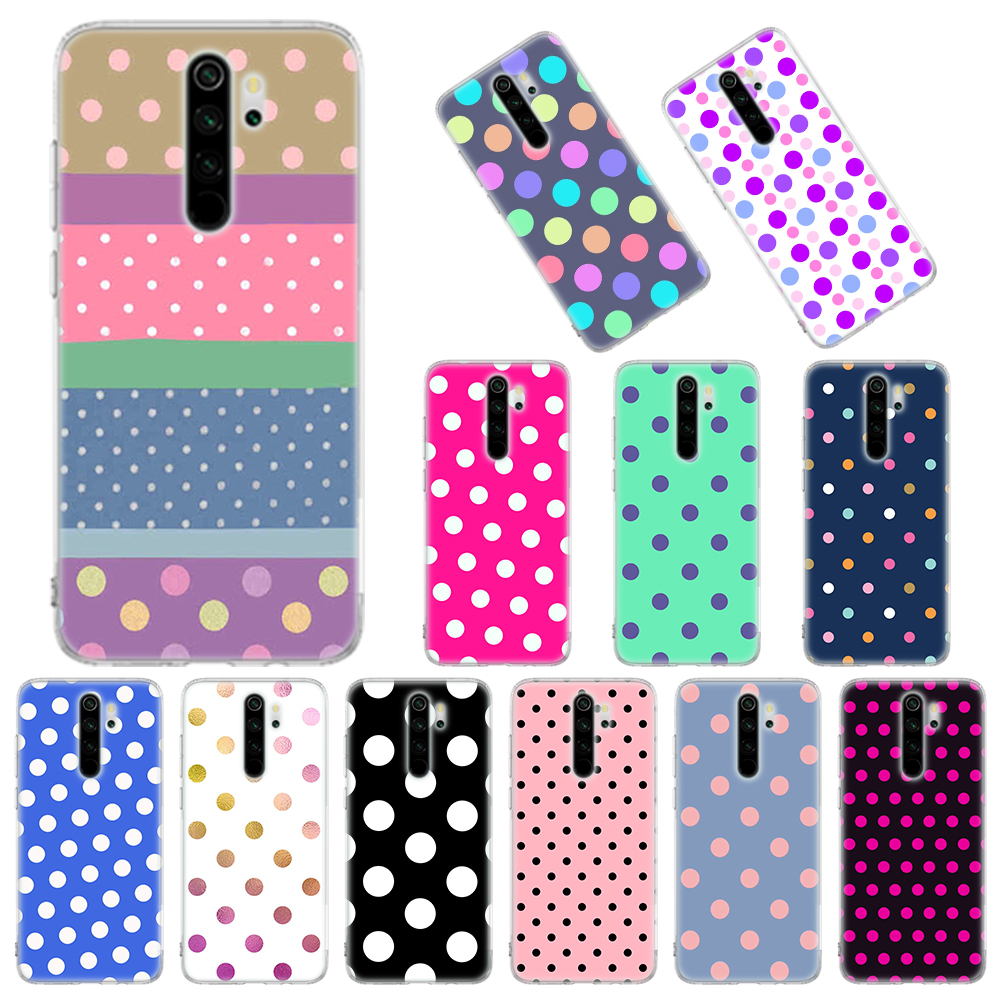 Silicone Case For Xiaomi Redmi Note 6 7 8 Pro 9 Pro 9S 8T 6 6A 7 7A 8 8A K20 K30 Pro 10X 5G Cover Polka Dots