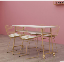 Double deck manicure table single double three manicure table manicure table gold manicure shop table and chair set