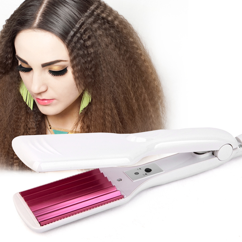 Corrugated Iron Hair Straightener Iron Hair Crimper Irons Fluffy Wave Iron Chapinha Corrugation Flat Irons Wave Styling Tools
