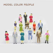 100pc model color figure for diorama sand table scenery making 1/50 all sitting people garden