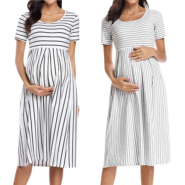 LONSANT Simple Maternity Dresses 6