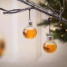 1 или 6 домашняя Питьевая утварь, прозрачная сферическая чашка, чашка для напитков, наполненная винным украшением рождественской елки, чайник, сок# YL10