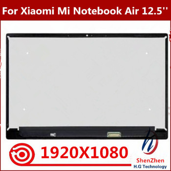 12.5'' Replace LED Display LCD Screen Front Glass Panel Assembly For Xiaomi Mi Notebook Air 12.5 1080P