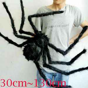 130cm Hairy Giant Spider Decoration Halloween Prop Haunted House Decor Party Halloween Sly Scary Spider(China)