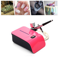 Airbrush Kit With Compressor 5 Gears Aerografo Kit For Face Paint Cake Coloring Airbrush Makeup Akvagrim Tool