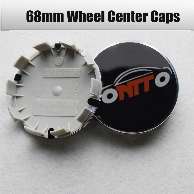 Car Wheel Center Caps Cover For BMW 1 3 5 6 7 X Z M 68mm 10 Pins Clips Auto Rims Wheel Hubcaps CoversOriginal <font><b>36136783536</b></font> ABS image