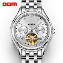 DOM Mens Watches Top Brand Luxury Mechanical Watch Men Stainless Steel Waterproof Sport Wrist Watch Relogio M 815D 7M
