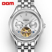 DOM erkek saatler Top marka lüks mekanik İzle erkekler paslanmaz çelik su geçirmez spor kol saati Relogio M 815D 7M