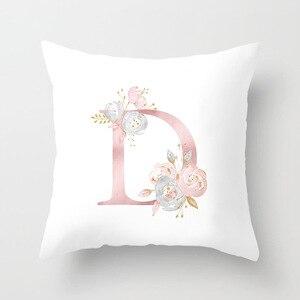 Image 5 - ローズゴールドピンク英字クッションカバーバレンタインの日ギフト用kissen装飾スロー枕車のソファホーム