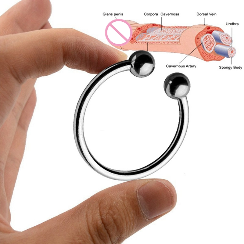 Penis Delay Training Ring Half Circle Lock Cock Delay Ejaculation Ring Foreskin Resistance Ring Stainless Steel Adult Toys-20