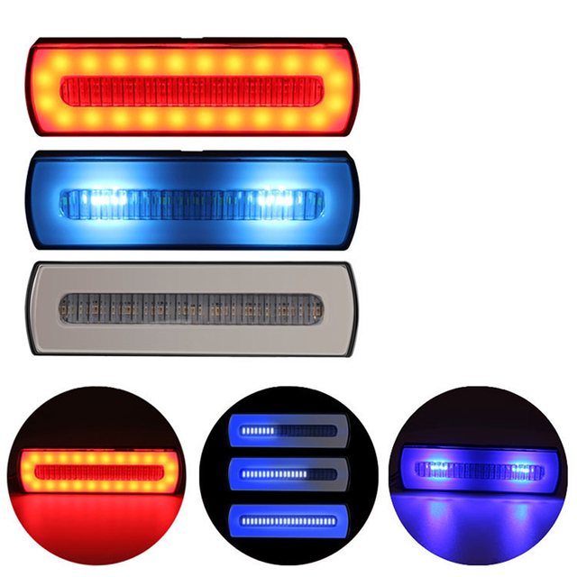 1 Led Rear Flashing Indicator Automatic Flash Warning Tail Light Signal Light Dual Color Composite Multifunctional Tail Light 2