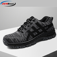 Men's safety shoes in autumn and winterKevlar sole anti smashing anti piercing safety shoes breathable wear resistant work shoes