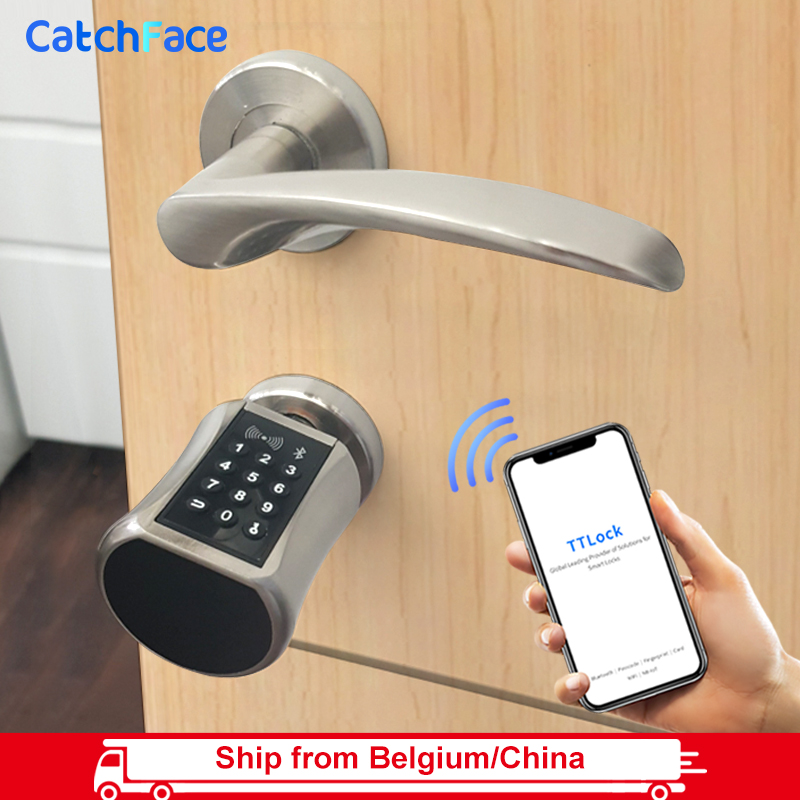 Bluetooth Smart Cylinder Lock WIFI Electronic Door Lock Digital APP Keypad Code RFID Card Keyless Lock With TTLock App