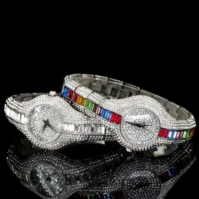 30mm Small Womens Watch Shockproof Waterproof Luxury Ladies Ar Metal Watch bracelets Rhinestone 5