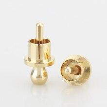 RCA غطاء حامي الغبار واقية مطلية بالذهب الضوضاء سدادة التدريع قبعات 8/قطعة