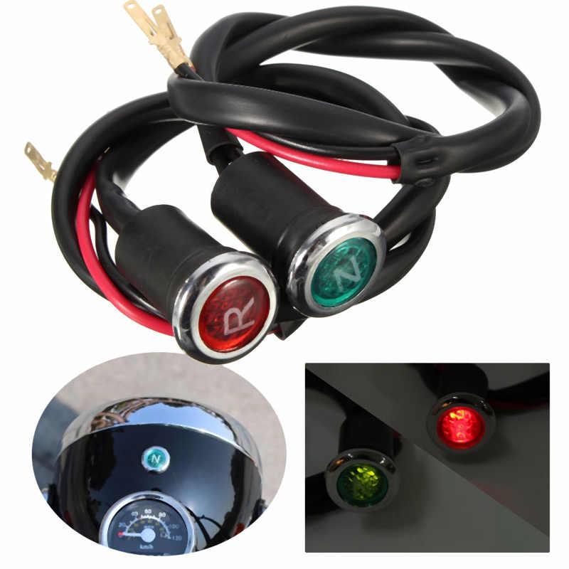 Vehemo 12V Lamp Motorfiets Lampje Diode Reverse Indicator Light Universal Neutrale Lampje N/R ATV