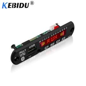 Image 4 - Kebidu 5V 12V Bluetooth MP3 WMA Decoder Board Wireless Audio Modul USB TF Radio Für Auto Zubehör Farbe screen Audio Player