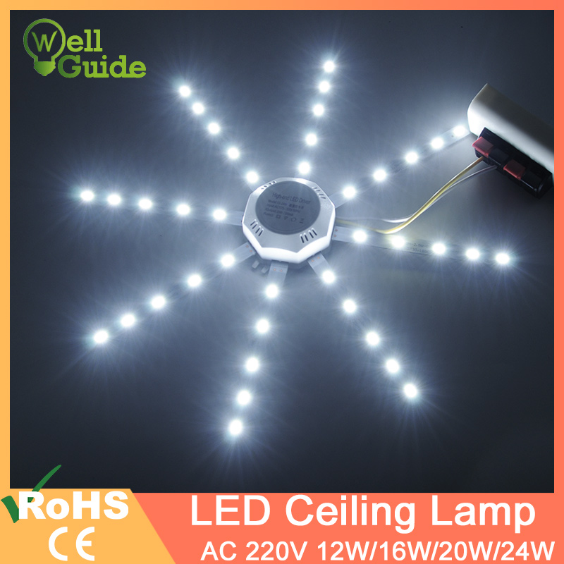 12W 16W 20W 24W Led Downlight Accessory Octopus Magnetic Plate Ring Light Led Lamp 220V For Ceiling Lamp Absorb Dome Replace