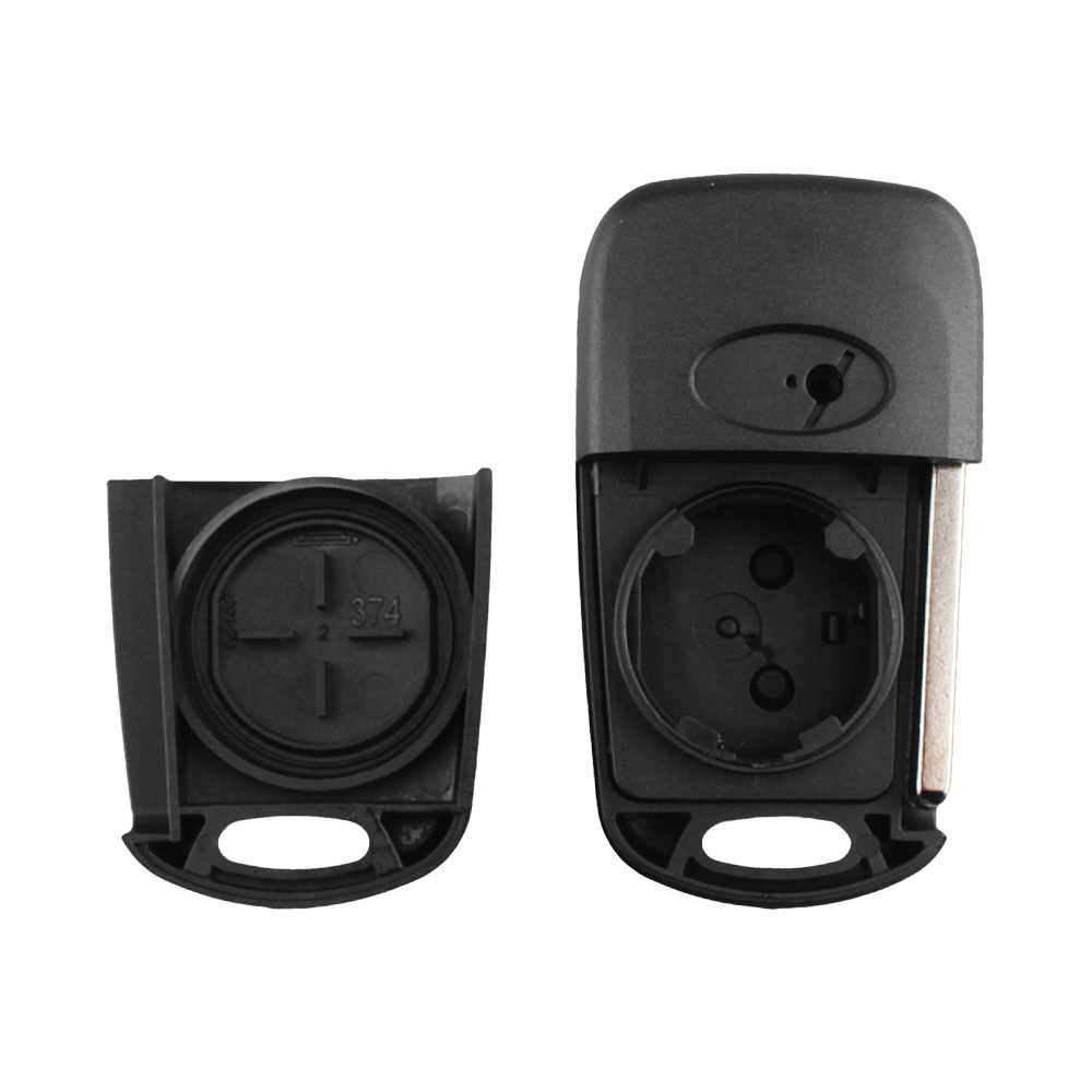 Keyyou Flip Folding Remote Case Kunci 3 Tombol untuk Hyundai Aksen Entri Tanpa Kunci Cover Mobil Alarm Perumahan