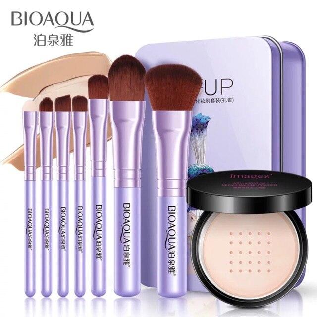 BIOAQUA maquillaje cepillo + seda suave maquillaje polvo suave luz cara corrector