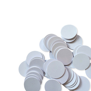 Image 2 - (100PCS/LOT) 13.56Mhz NFC 25MM Sticker Adhesive Coin Cards Tags Ntag213 (Compatible 203 ) PVC Waterproof For All NFC Phones