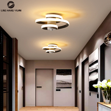 Modern Aisle Lights Ceiling Light Led Stairway Lights for Bedroom Living  Corridor Ceiling Lamps Indoor Deco Lighting Black 18W