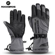 ROCKBROS  40 stopni zimowe rękawiczki rowerowe termiczne wodoodporne wiatroszczelne rękawice na rower górski do jazdy na nartach turystyka skuter motocyklowy