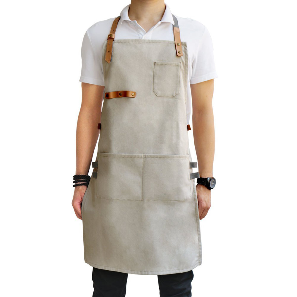 2020 New Waterproof Oil Cooking Apron Chef Aprons For Women Men Kitchen Bib For Dishwashing Cleaning Painting Gardening